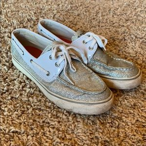 Sperry | silver sparkly